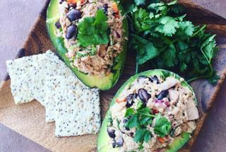 safe catch Mexican tuna salad stuffed avocado