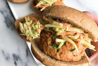 spicy-thai-tuna-burgers-peanut-slaw