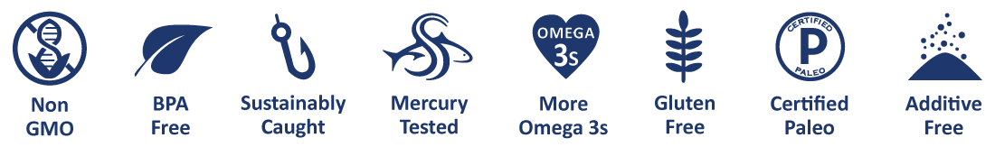 Safe Catch tuna is dolphin safe, sustainably caught, mercury tested, bpa free and additive free, has more Omega 3s, and does not pre-cook.