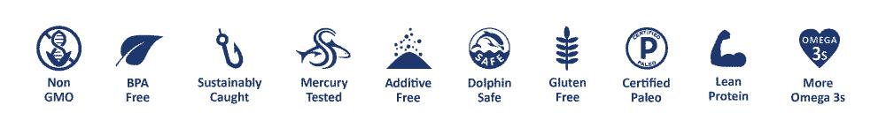Tuna Icons Mercury Tested BPA free Gluten free Paleo sustainably caught