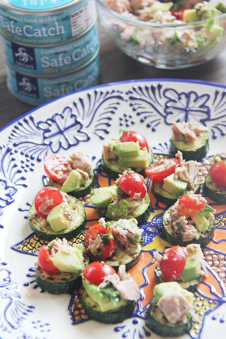 safe catch avocado tuna bruschetta
