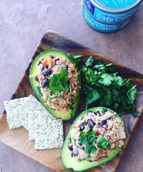 Avocados Stuffed with Mexican Tuna Salad