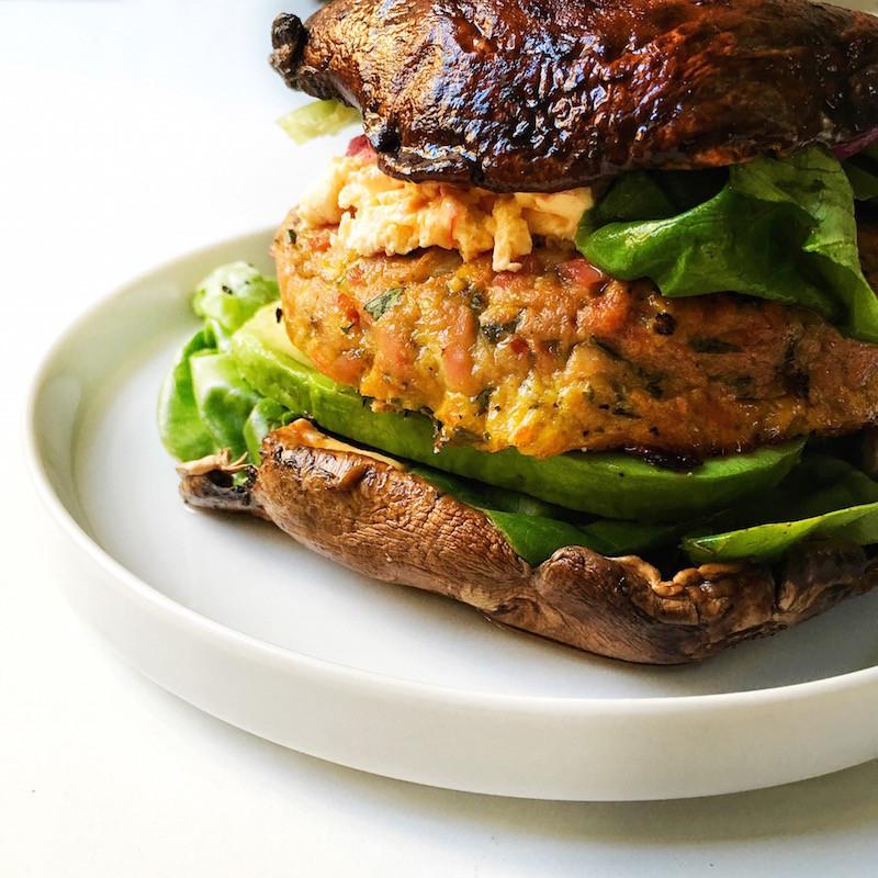 portobella tuna burger