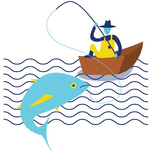 Sustainably caught tuna