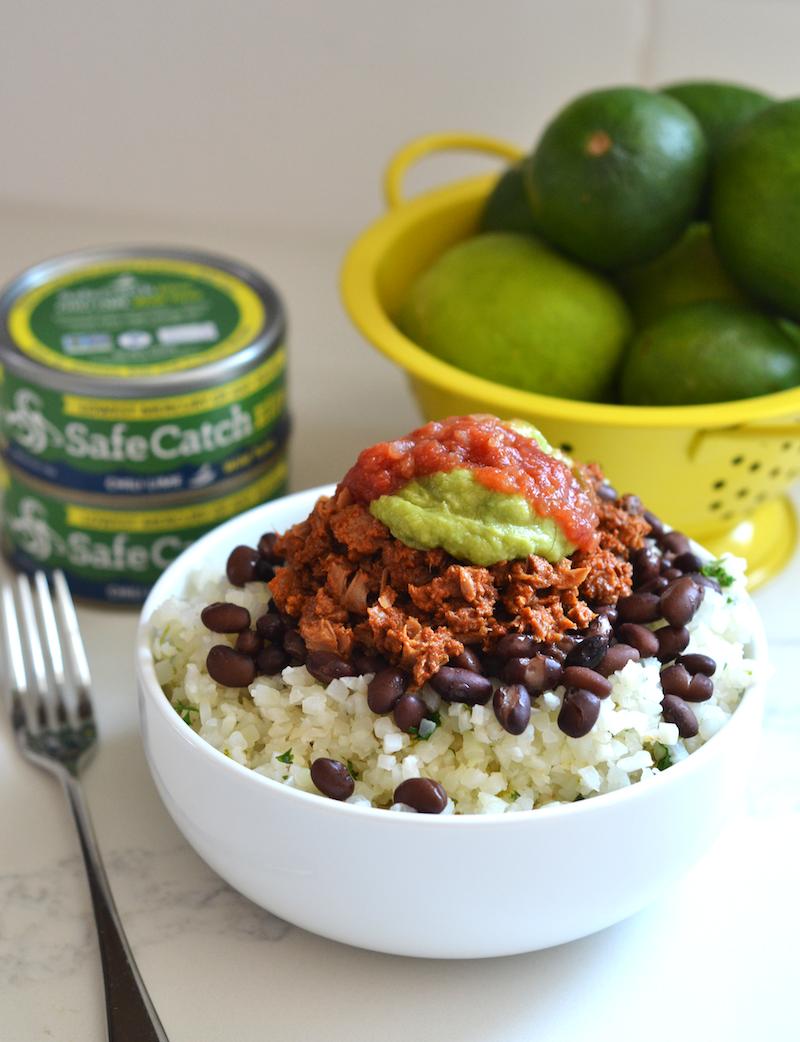 chili lime tuna burrito bowl