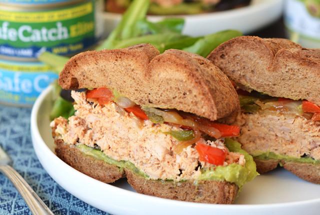 Chili Fajita Tuna Sandwiches recipe image