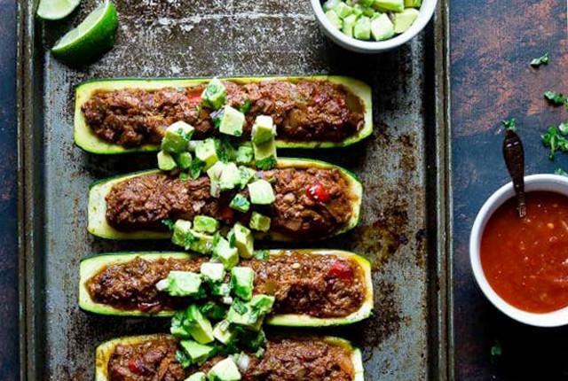 Mexican Tuna Stuffed Zucchini Boats recipe image