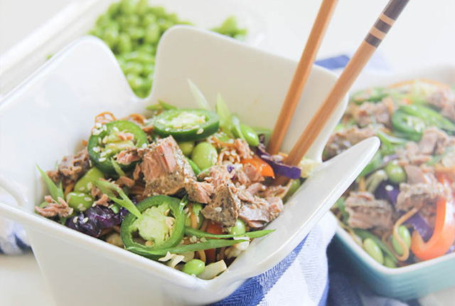 Garlic Herb Tuna Cakes and Veggies recipe image