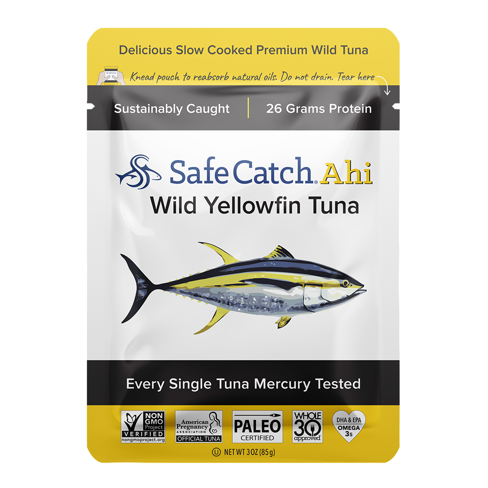 ahi, wild yellowfin tuna - front of pouch