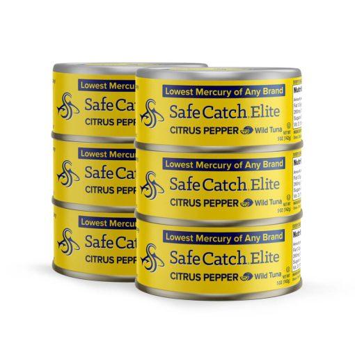 Elite Wild Tuna Citrus Pepper 6 Can Stack