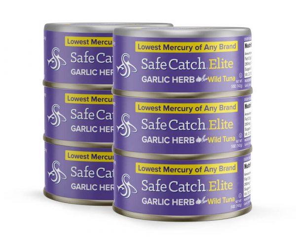 Elite Wild Tuna Garlic Herb 6 Can Stack