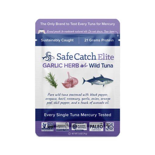 Elite Wild Tuna Garlic Herb Pouch Front