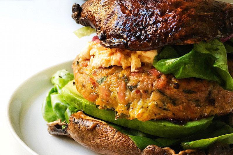 Tuna Burger with Portobello