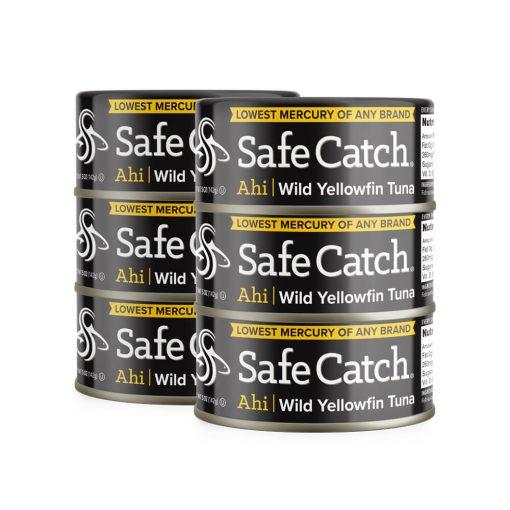 Wild Ahi Yellowfin Tuna 6 Can Stack
