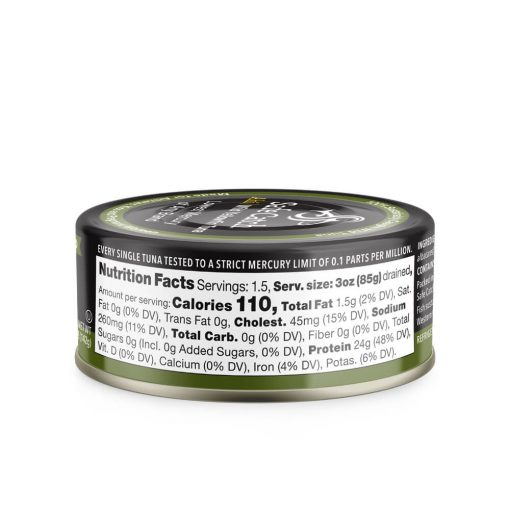 Wild Ahi Yellowfin Tuna in Avocado Oil Can Nutrition
