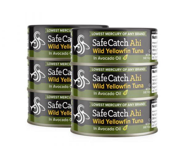 Wild Ahi Yellowfin Tuna in Avocado Oil Can Stack