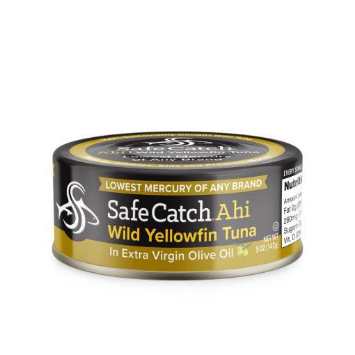 Wild Ahi Yellowfin Tuna in Extra Virgin Olive Oil Can Lockup UPC