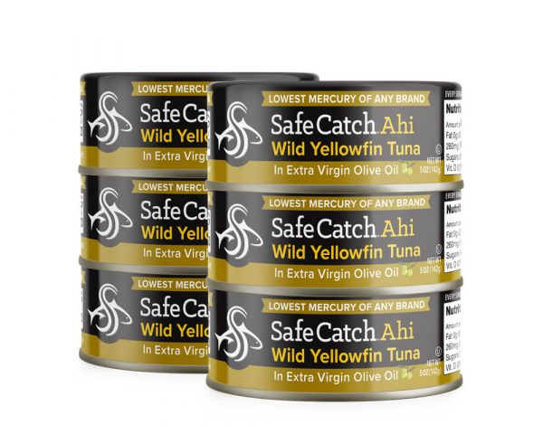 Wild Ahi Yellowfin Tuna in Extra Virgin Olive Oil Can Stack