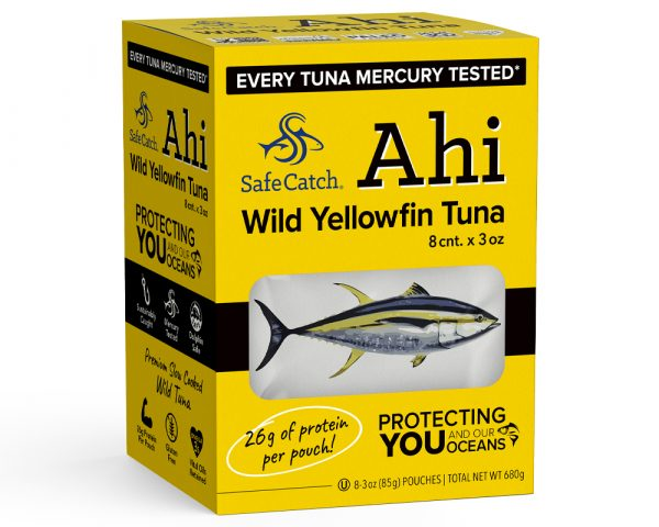 Wild Ahi Yellowfin Tuna Pouch 8 Pack Front