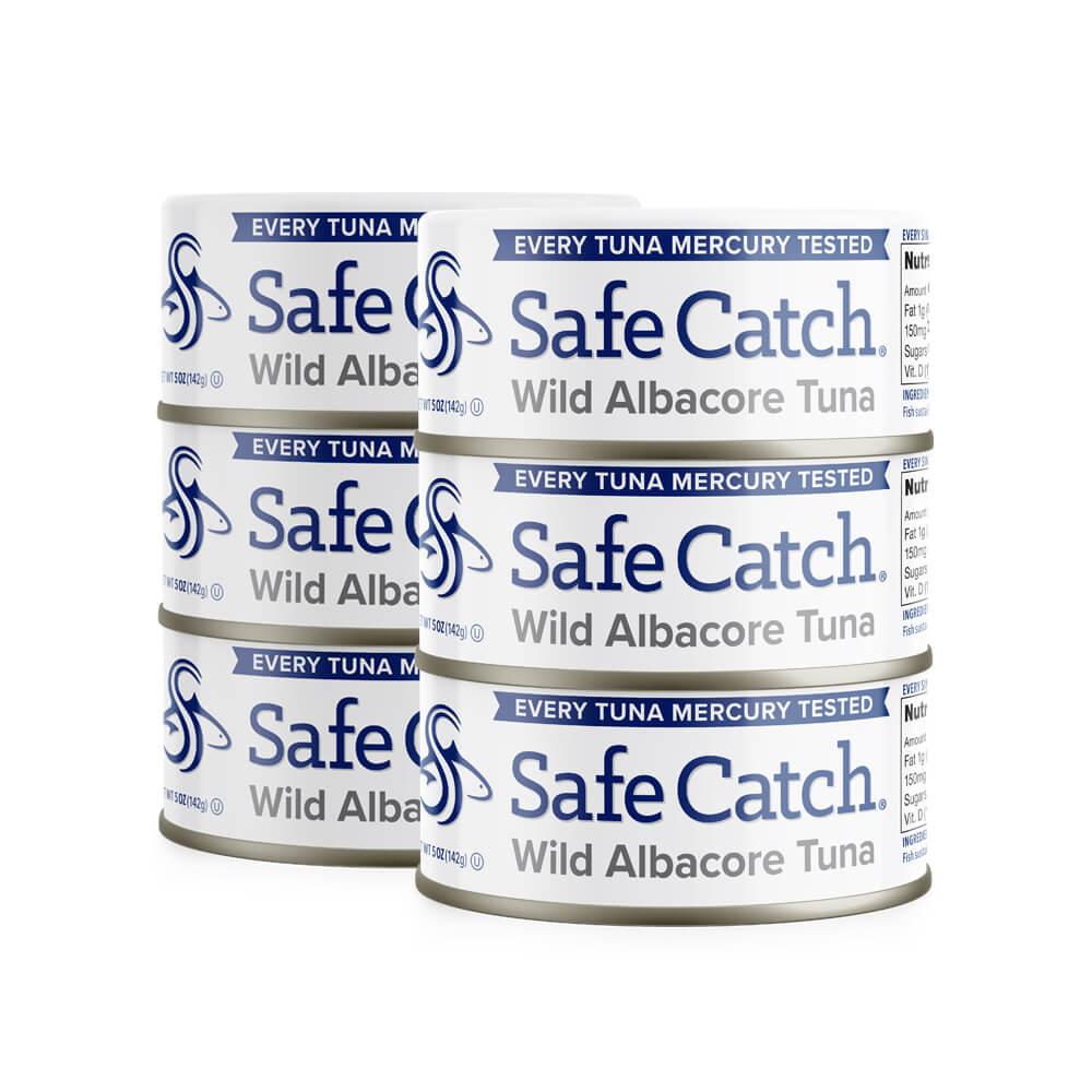 Wild Albacore Tuna 6 Can Stack