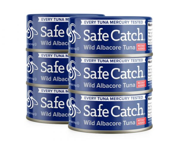 Wild Albacore Tuna No Salt Added 6 Can Stack