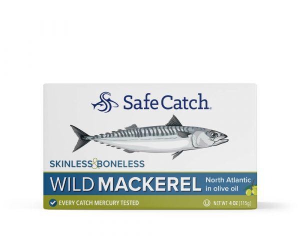 Wild Mackerel in Olive Oil Skinless Boneless Front