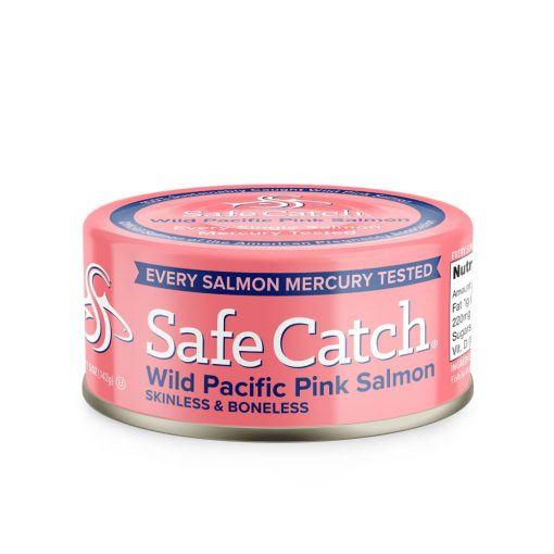 Wild Pacific Pink Salmon Can Front