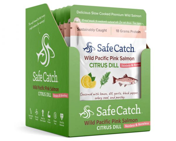 Wild Pacific Pink Salmon Citrus Dill Pouch Caddy