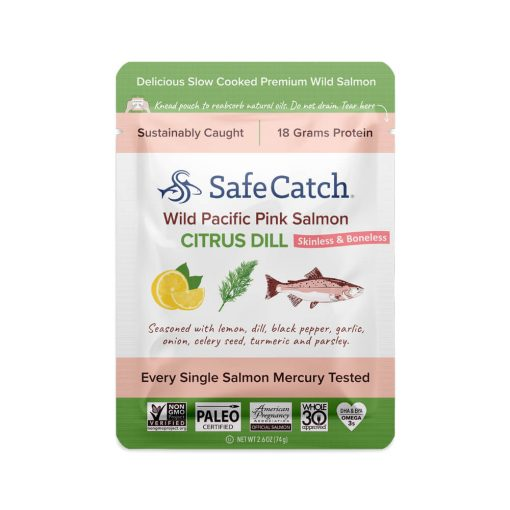 Wild Pacific Pink Salmon Citrus Dill Pouch Front