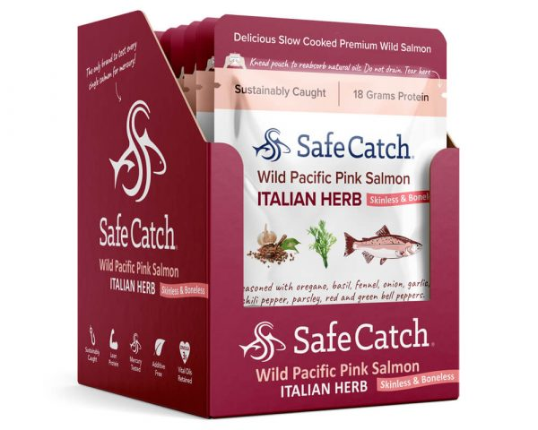 Wild Pacific Pink Salmon Italian Herb Pouch Caddy