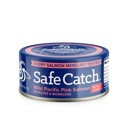 Wild Pacific Pink Salmon No Salt Added Can Front