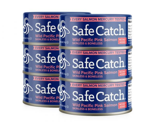 Wild Pacific Pink Salmon No Salt Added Can Stack