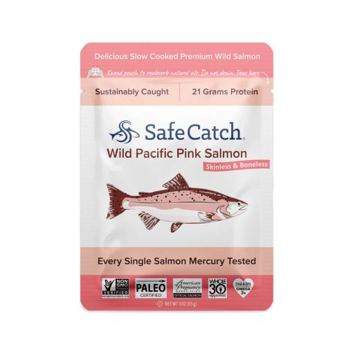 Wild Pacific Pink Salmon Pouch Front