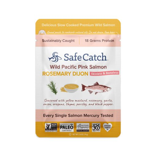 Wild Pacific Pink Salmon Rosemary Dijon Pouch Front