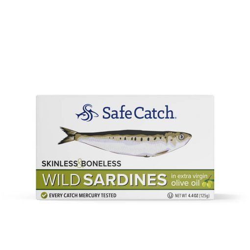 Wild Sardines in Extra Virgin Olive Oil Skinless Boneless Front