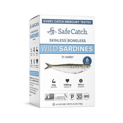 Wild Sardines in Water Skinless Boneless 6 Pack
