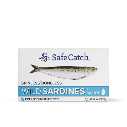 Wild Sardines in Water Skinless Boneless Front